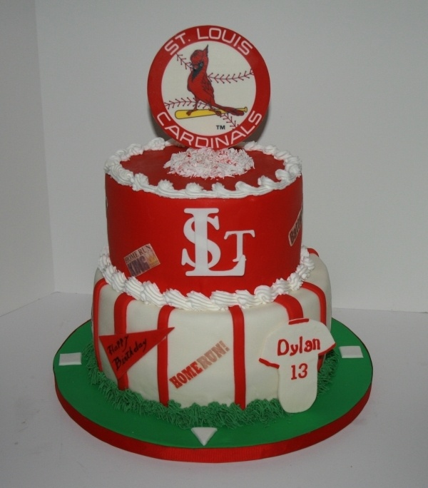 for st louis cardinals birthday cake by nanaof5 on cake central