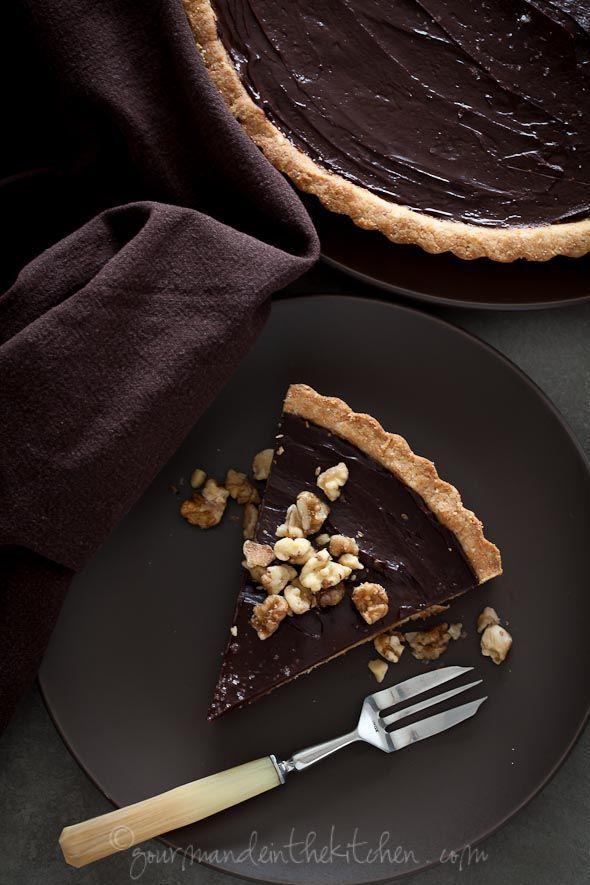 Caramel Walnut Tart Gourmande in the Kitchen Chocolate Date Caramel ...