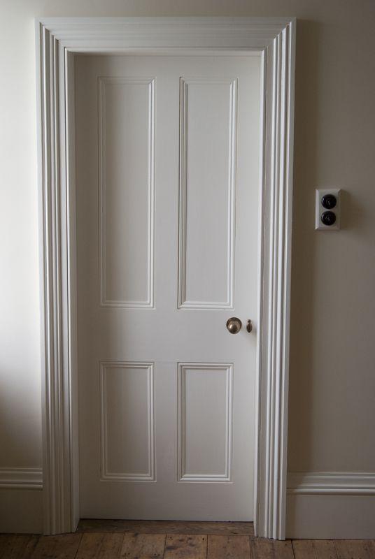 Architrave and door detail victorian grey living for Door architrave