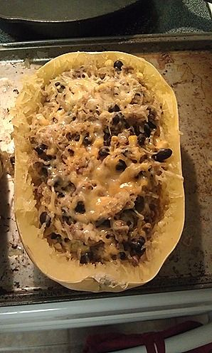 mexican style spaghetti squash bake | Great food ideas | Pinterest