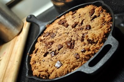 Whole Wheat Chocolate Chip Skillet Cookies /
