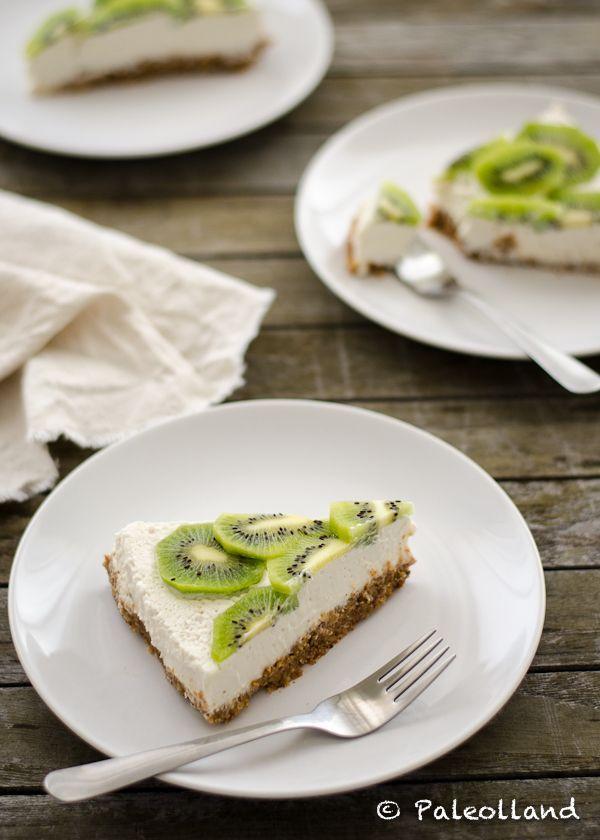 Paleo Kiwi Lemon Cheesecake | Paleo | Pinterest