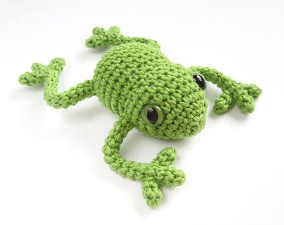 PATTERN: Tree frog - Amigurumi miniature frog pattern ...
