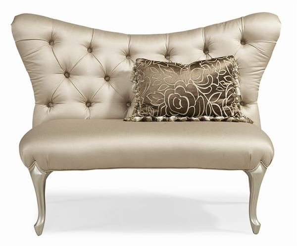 inspired by old hollywood glamour this settee is