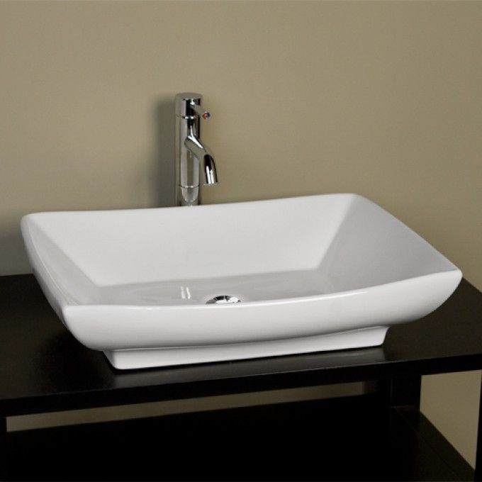 Bathroom Sink Rectangular : Mollie Rectangular Vessel Sink Small Home Awesome Bathroom Pinter ...