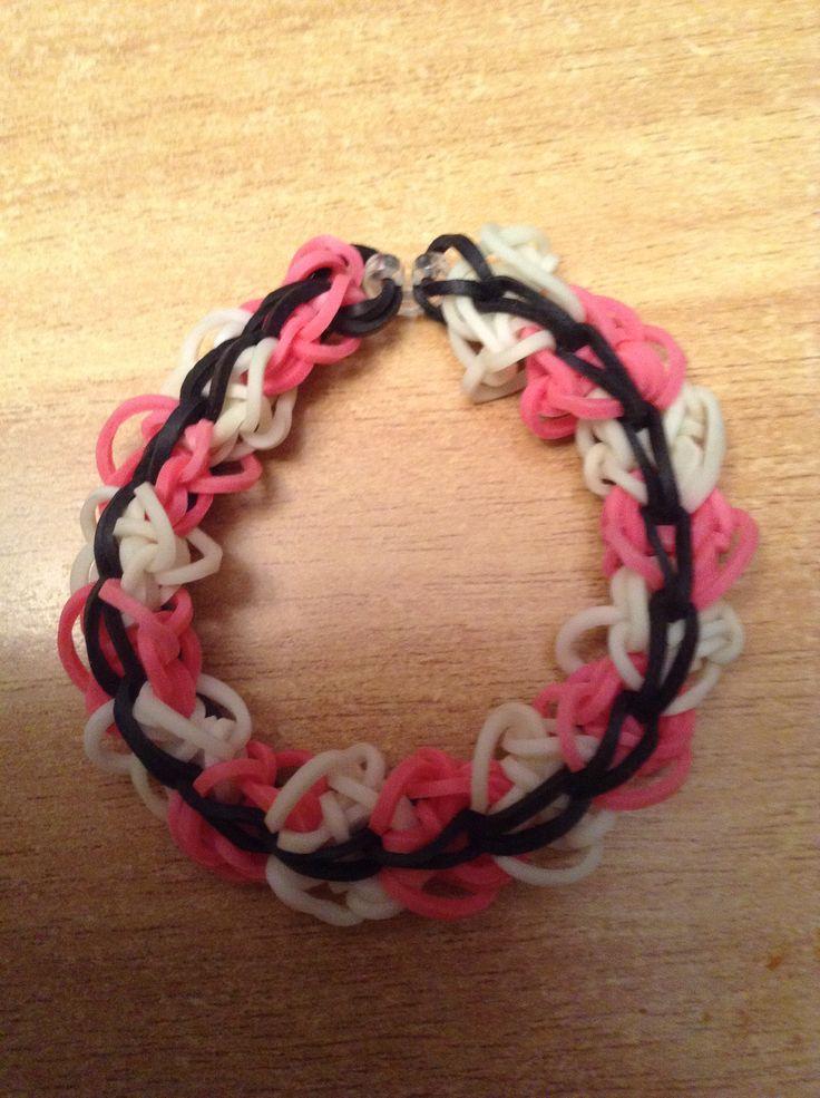 rainbow loom diamond ridge bracelet rubber bands pinterest
