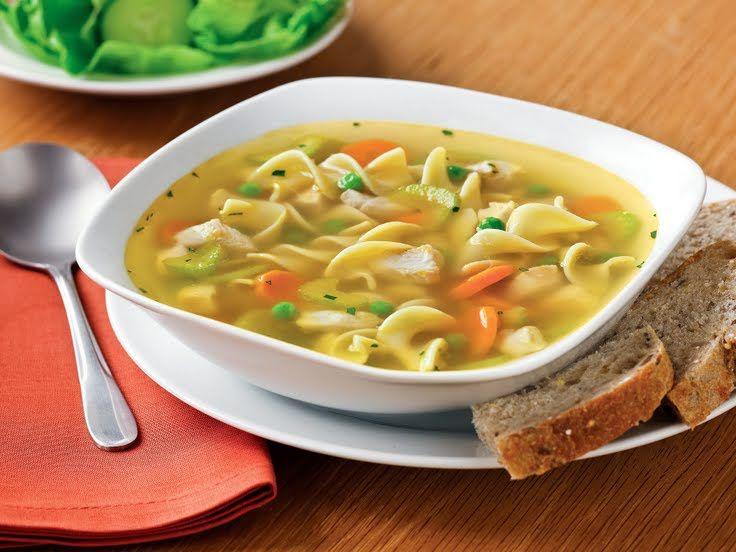 """Chicken Vegetable Soup with Carrot Dumplings! """"Dumplings add ..."""