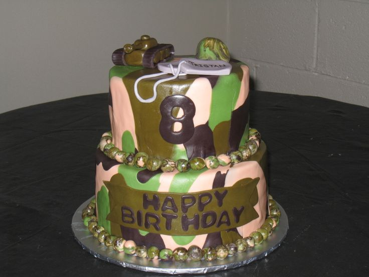 camouflage cake ideas This was for a boy that really ...