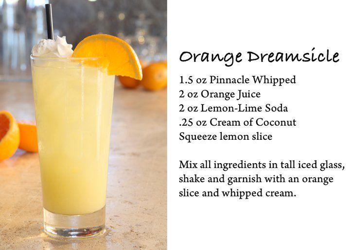 Creamsicle Drink Pinnacle Whipped Cream Vodka
