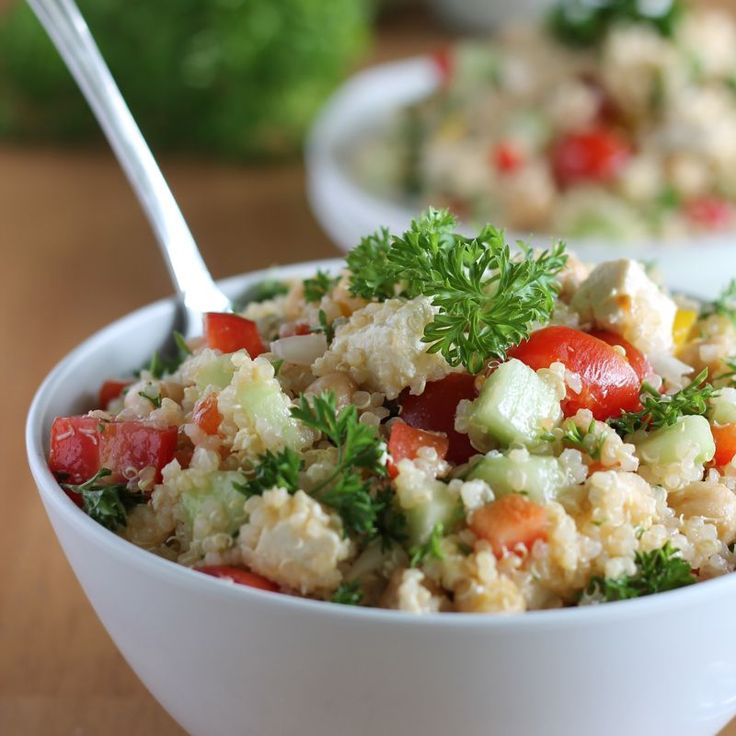 Quinoa Tabbouleh Salad high protein, dairy-free