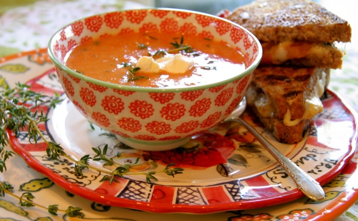 Oven Roasted Heirloom Tomato and Red Pepper Soup