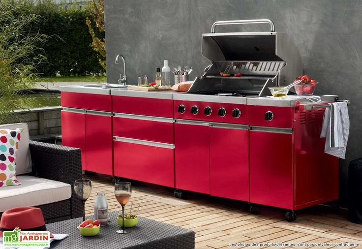 cuisine exterieur street garden rouge. Black Bedroom Furniture Sets. Home Design Ideas