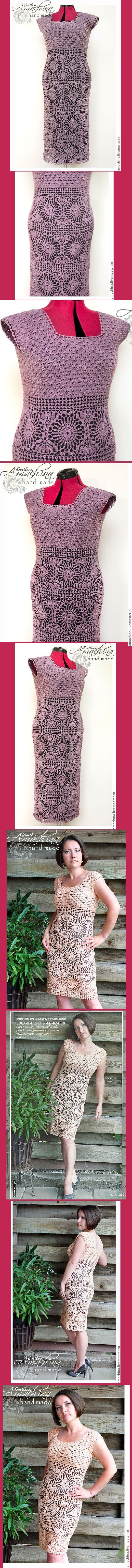 """Vestido feito à mão """"Pearl"""", pela autora: Svetlana Amahina - Fantasia Lace."""