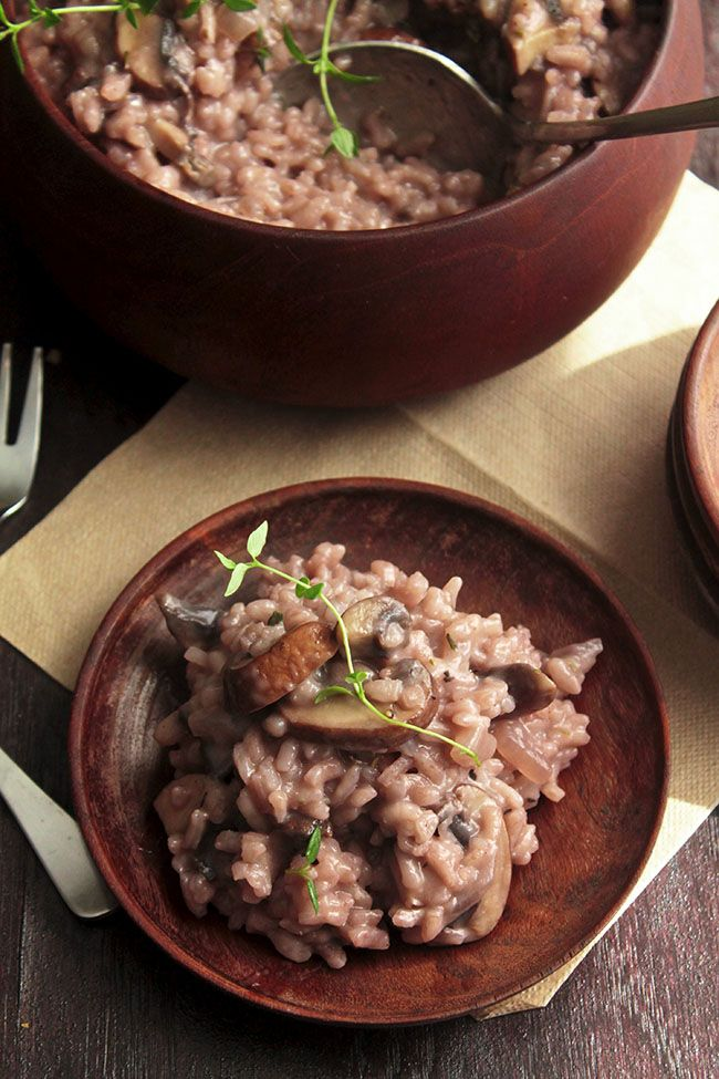Red Wine, Mushroom, & Thyme Risotto | Recipe