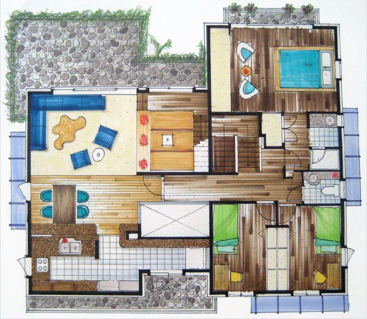 Rendered floor plans google search renderings pinterest for Rendered floor plan