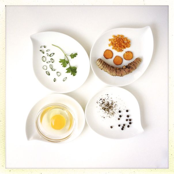 Ingredients for Scrambled Eggs with Turmeric and Black Pepper http ...