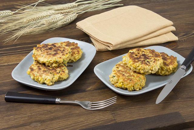 Corn and Summer Squash Cakes
