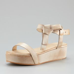 Brunello Cucinelli Bow-Strap Platform Sandal
