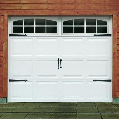 Black traditional decorative garage hardware kit Garage lock home depot