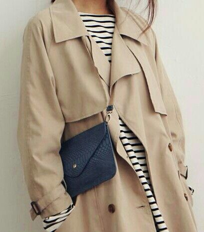 #4 The Trench | #levostyle http://www.levo.com/articles/fashion/how-to-dress-professionally-when-its-raining-outside-2 Style - Minimal + Classic : Classic mariniere, classic trench
