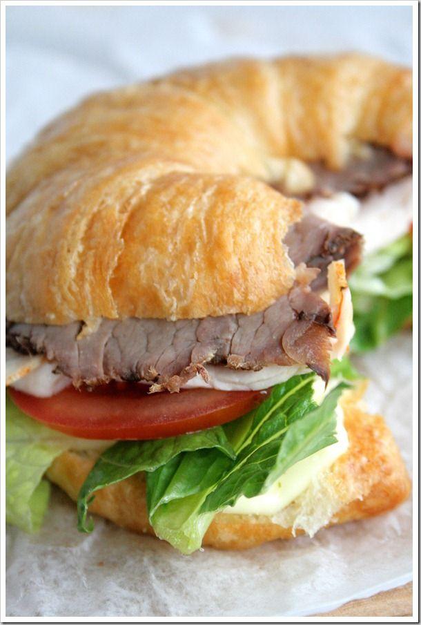 Turkey and Roast Beef Croissant
