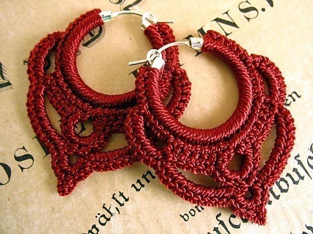 Free Crochet Patterns For Earrings : Crocheted Earrings crafts Pinterest