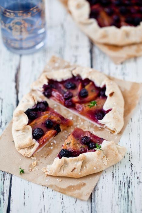 Peach, Blueberry & Lemon Thyme Galettes   Cooking   Pinterest