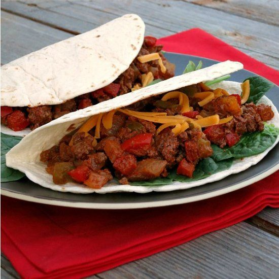 Lighter Chipotle Beef Tacos | Recipe