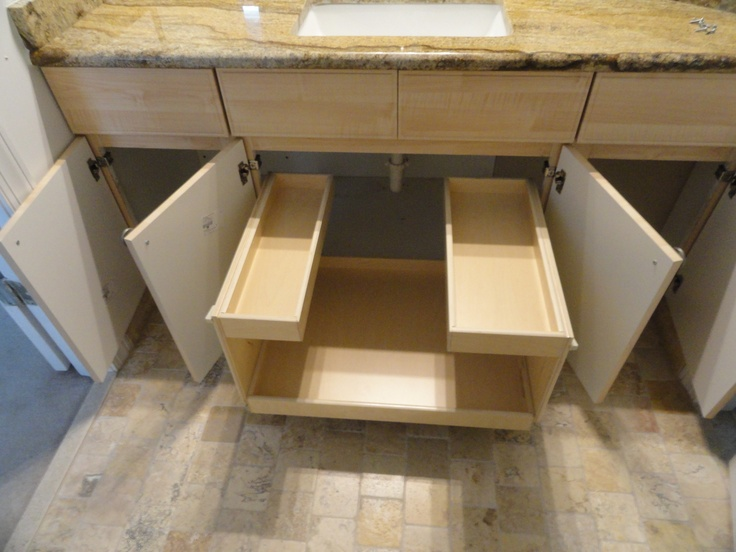 Under the sink bathroom storage organization pinterest for Bathroom under sink storage
