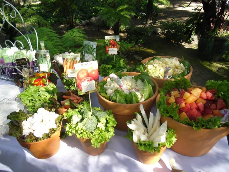 clay pot ve able & fruit table Garden Party