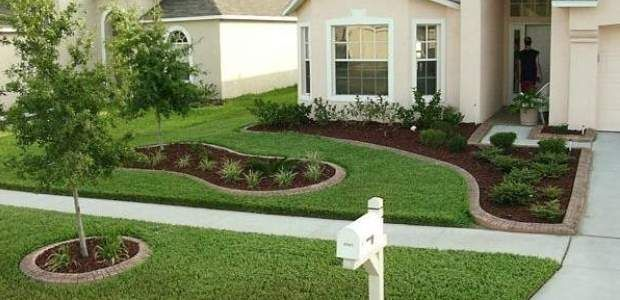 Low budget low maintenance landscaping yard for Low maintenance gardens ideas on a budget