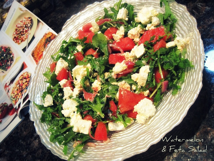 Watermelon & Feta Salad | Food Glorious Food | Pinterest
