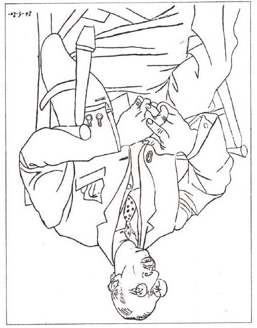 Upside Down Contour Line Drawing : Picasso drawing upside down exercise art