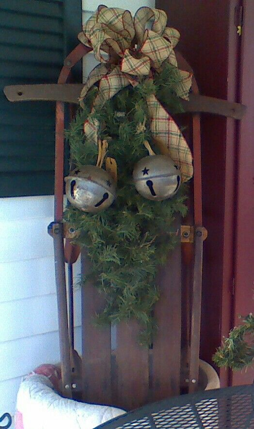 Pinterest discover and save creative ideas for Antique sled christmas decoration