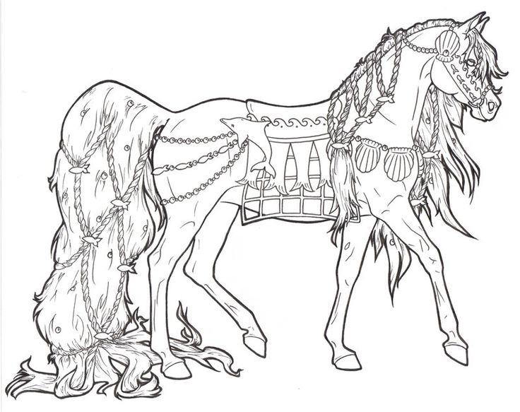 carousel horse aquatica coloring embroidery pages