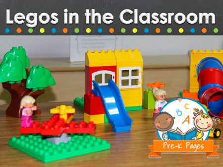 Educational ideas for using Legos in the preschool, pre-k, or kindergarten classroom.