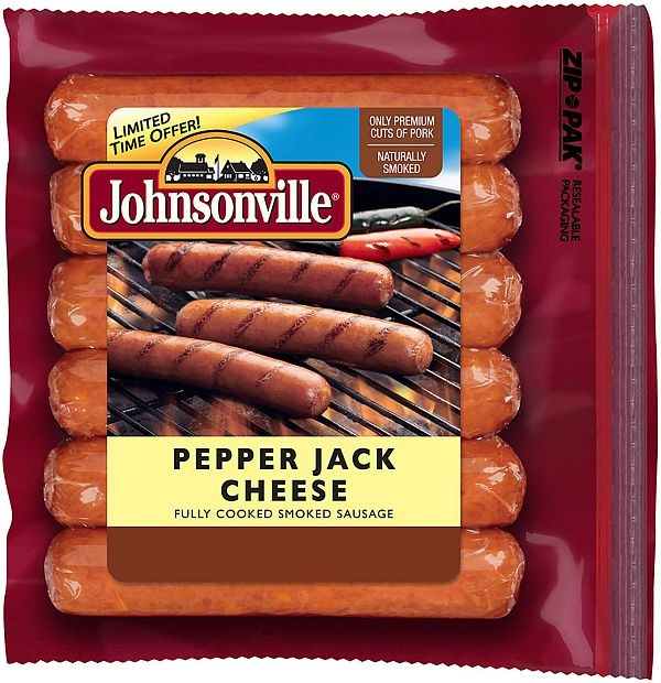 Johnsonville #Pepper Jack Cheese Smoked-Cooked Sausage