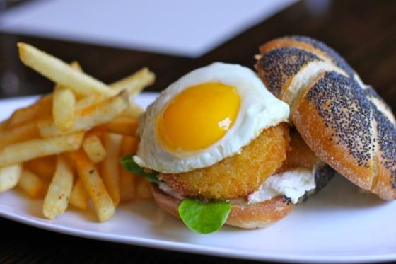 ... by day... it has a delicious fried green tomato BLT with fried egg