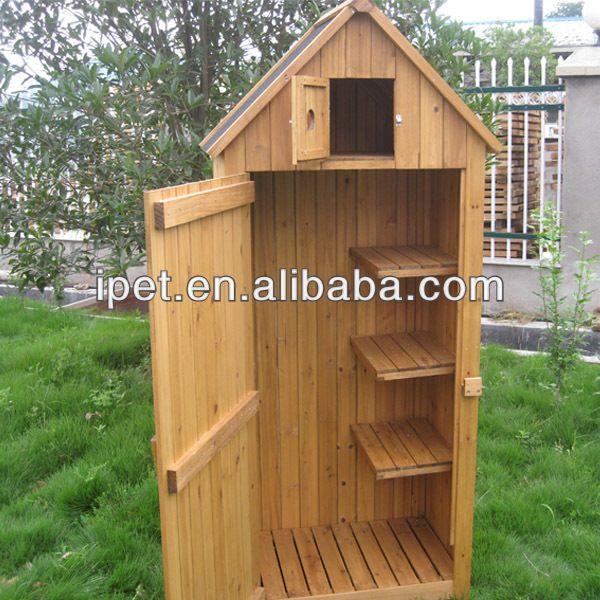 Classic garden wooden storage cabinet outdoor tools shed for Armoire de jardin en bois