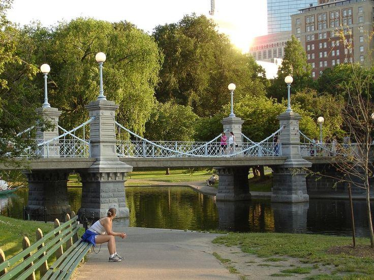 Public Gardens Bridge For L J Pinterest