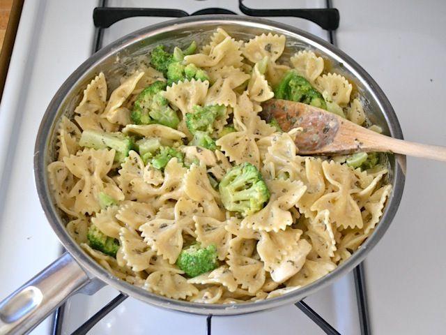 Creamy Pesto Pasta with Chicken & Broccoli ($5.01 recipe / $1.25 ...