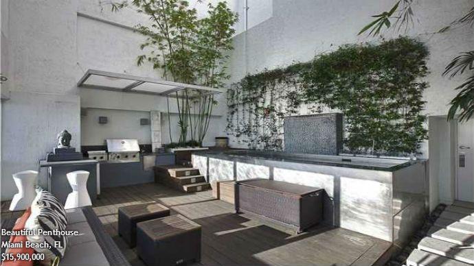 gorgeous luxury outdoor kitchen in miami beach florida