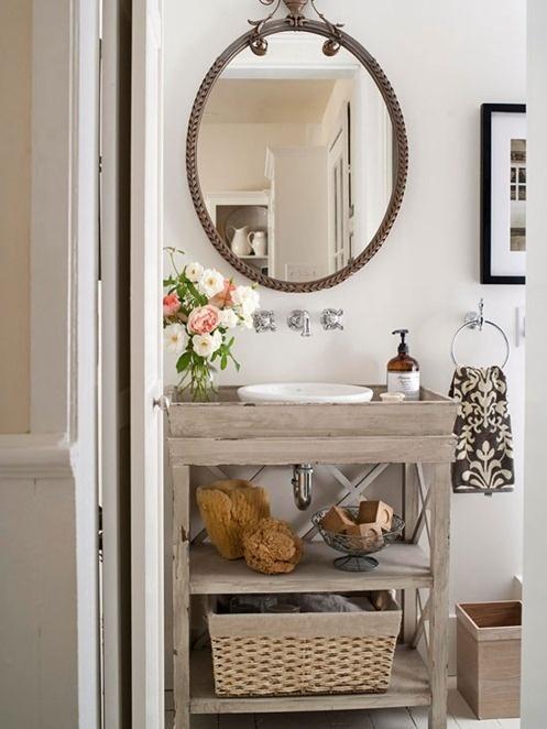 Pretty small bath bathrooms pinterest for Pretty small bathrooms