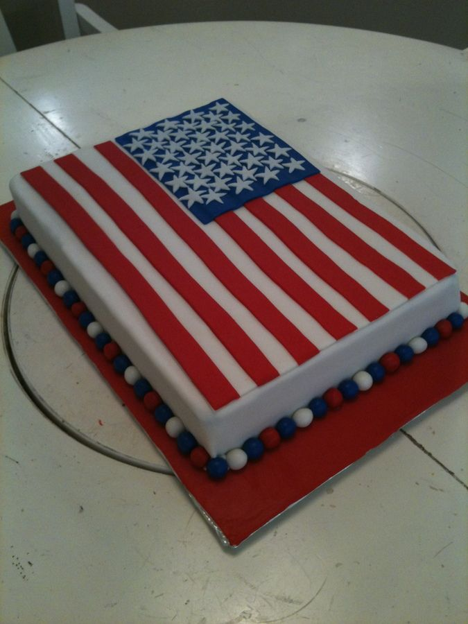 American Flag Cake — Independence Day (4th of July)