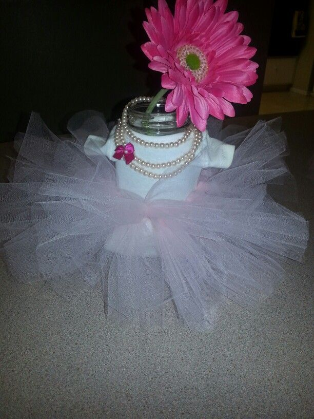 tutu cute baby shower centerpiece baby shower pinterest