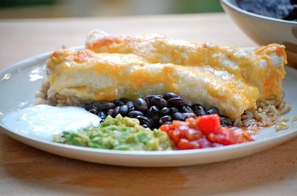 Lighter chicken enchiladas | Dinner | Pinterest