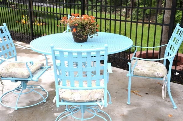 Compainted Outdoor Furniture : Painted patio furniture