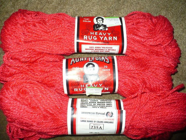 Heavy Rug Yarn 120 Red Yarn Pinterest