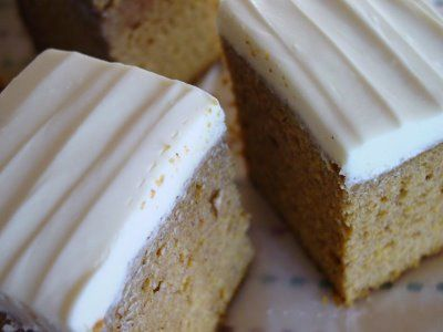 Pumpkin Spice Cake With Honey Frosting | food and drinks | Pinterest