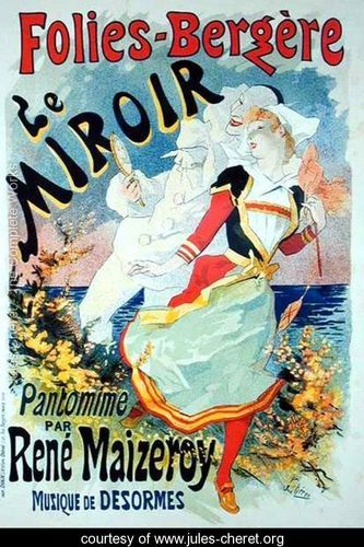 Reproduction of a poster advertising the mirror a pantomime by rene
